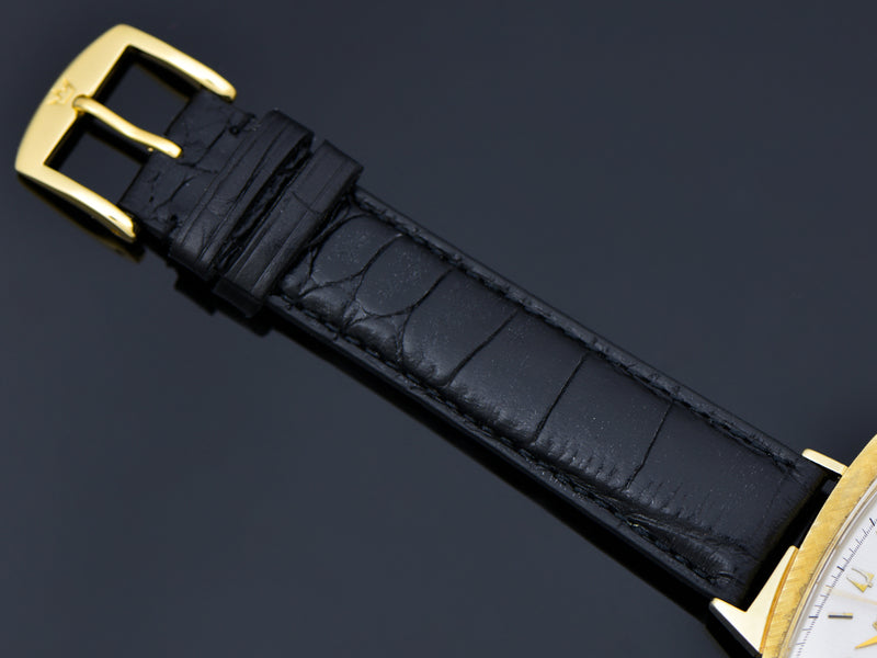 Brand New Genuine Leather Alligator Grain Band with matching gold tone buckle