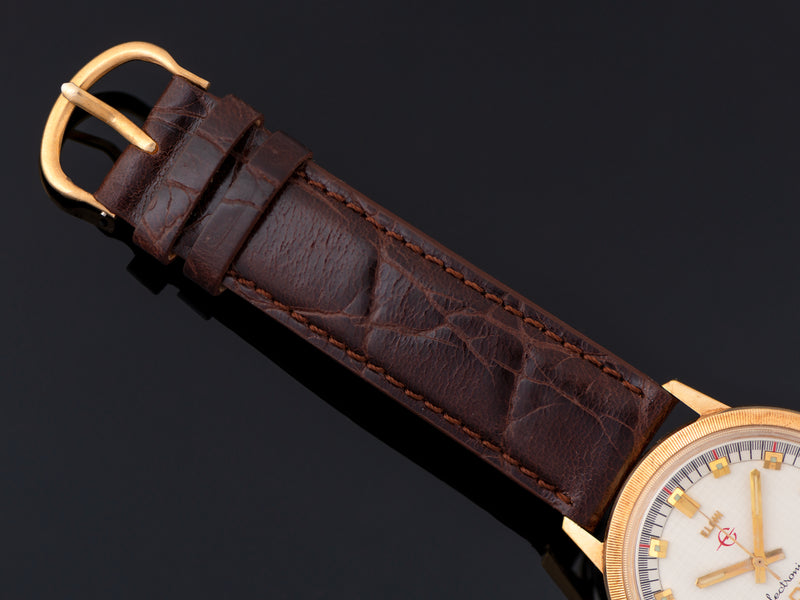 Brand New Genuine Leather Alligator Grain Strap with matching Gold Tone Buckle