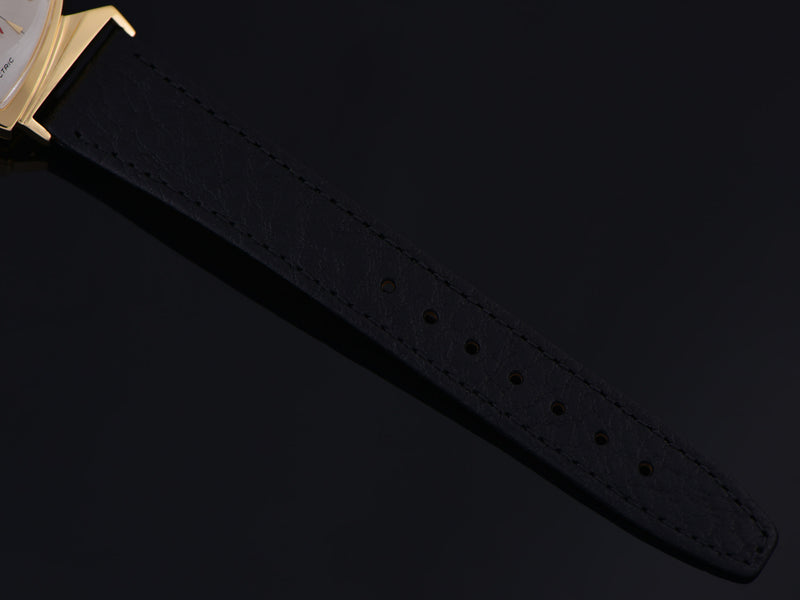 Brand New Genuine Leather Black Buffalo Grain Watch Band
