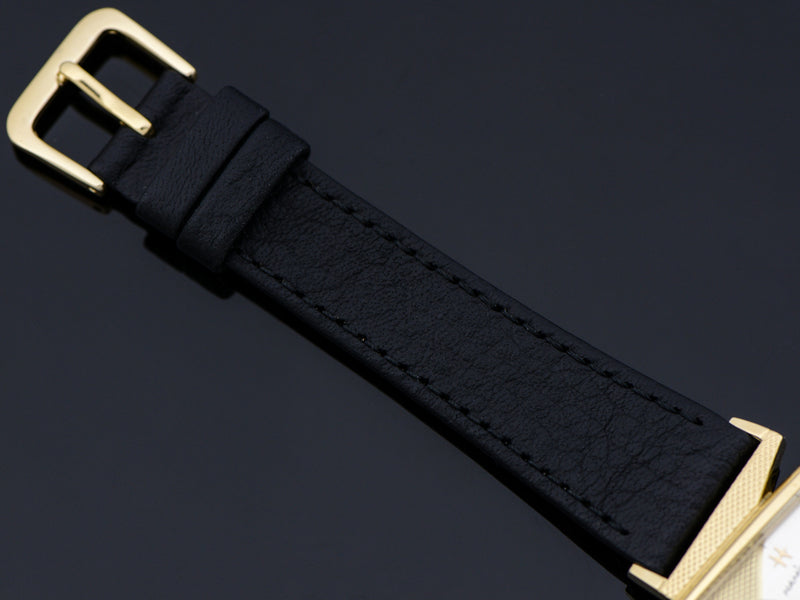 Brand New Genuine Leather Black Calf Band with Matching Gold Tone Buckle