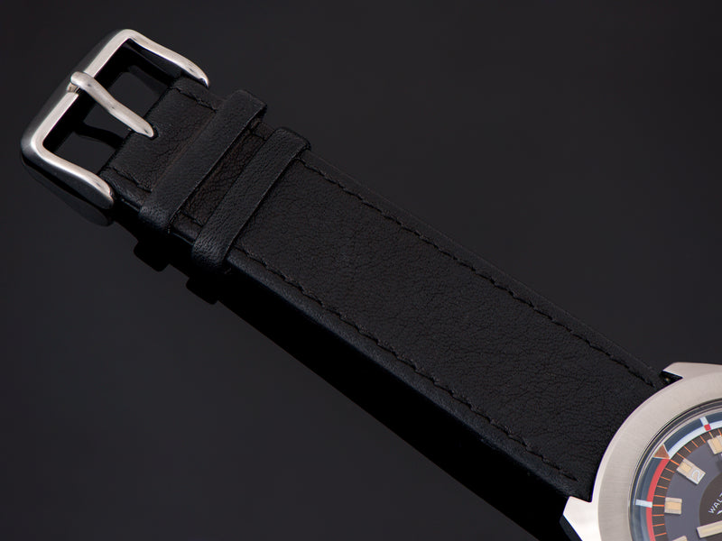 Brand New Genuine Leather Black Strap with matching Silver Tone Buckle