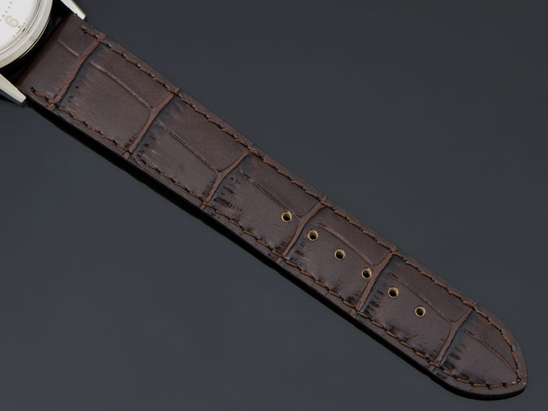 Brand New Genuine Leather Brown Alligator Grain Watch Strap