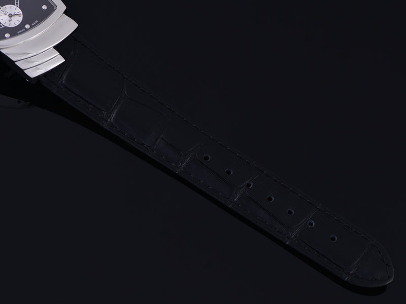 Brand New Genuine Leather Crocodile Grain Black Watch Strap