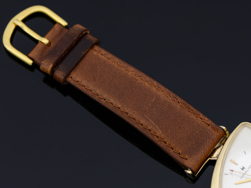 Brand-New Genuine Lizard Brown Band with matching Gold Tone Buckle
