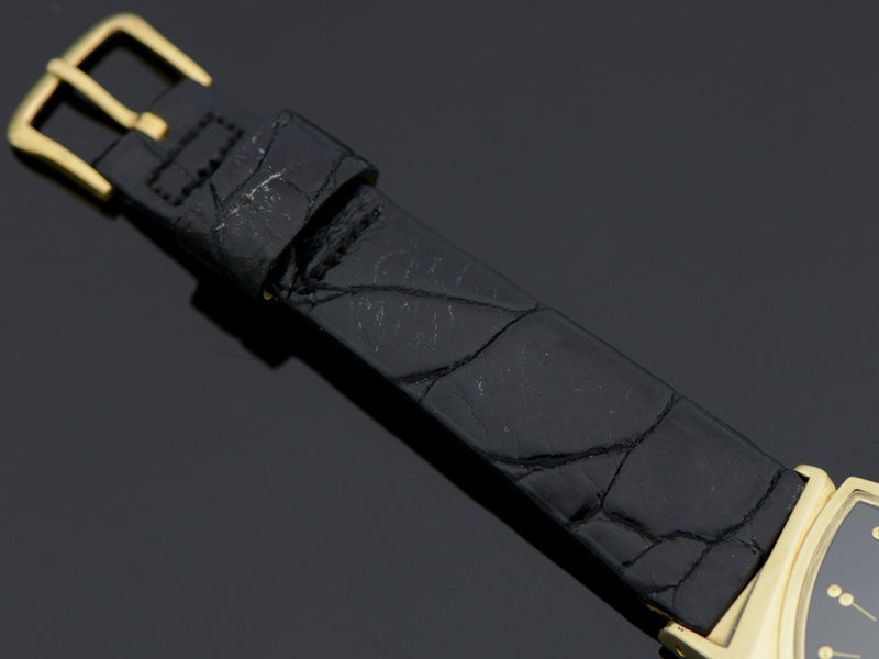 Brand New Genuine Turtle Black Band with Hamilton signed yellow gold filled buckle