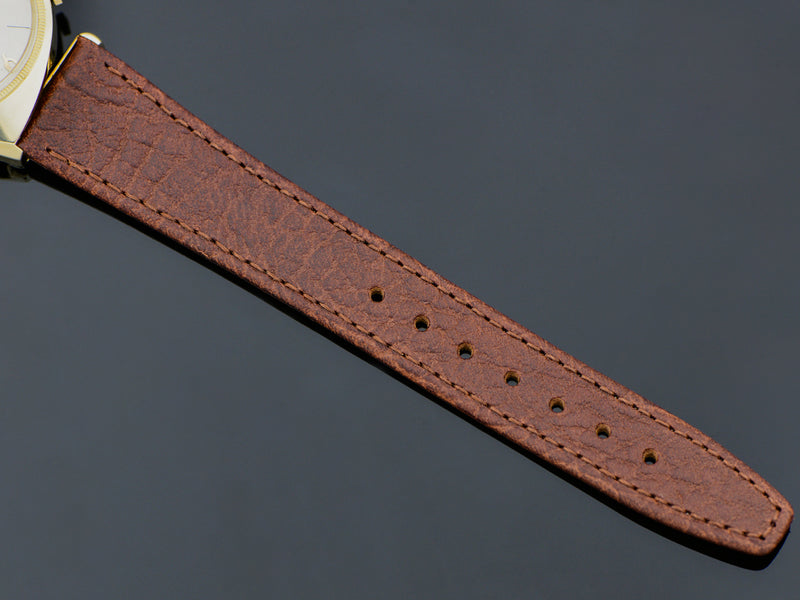 Brand New Genuine Leather Brown Buffalo Grain Watch Band