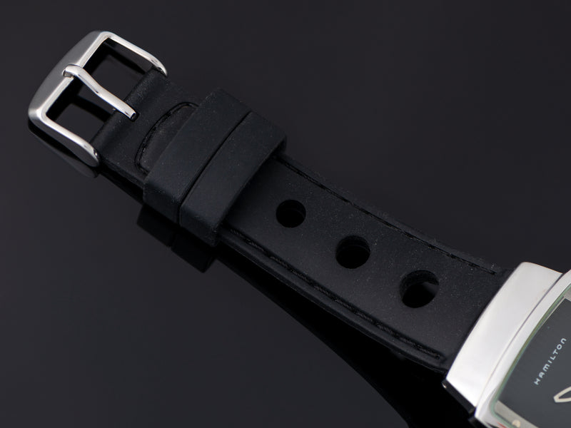 Brand New Silicon Rally Style Watch Strap with Matching Silver Tone Buckle