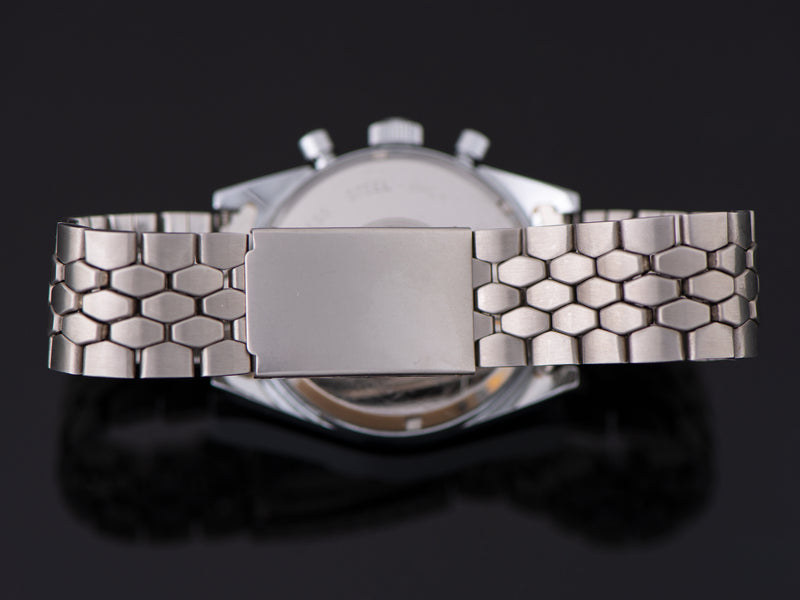 Brand New Stainless Steel Coffin Link Unmarked Bracelet with Folding Clasp