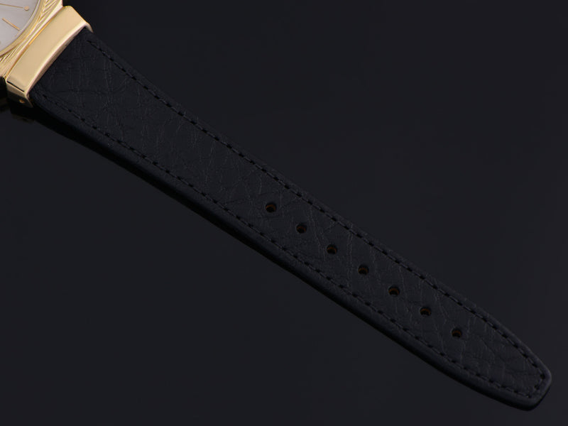 Brand new genuine Leather Black Calf Grain Watch Band