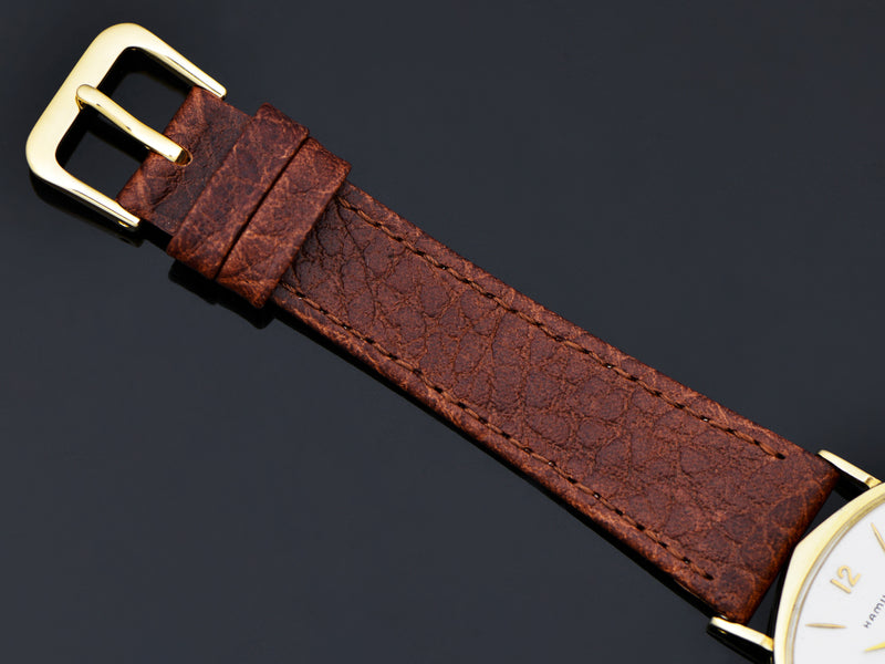 Brand new genuine Leather Brown Strap with matching gold tone buckle