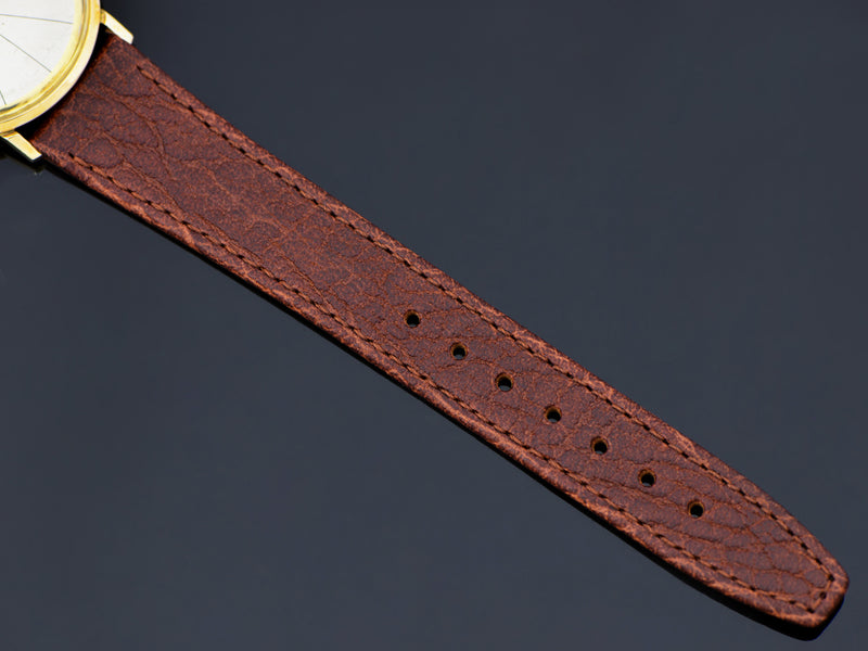 Brand new genuine Leather Thin Brown Watch Band