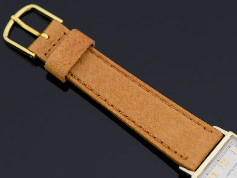 Brand New Old Stock Pigskin Tan Band with matching Gold Colored Buckle