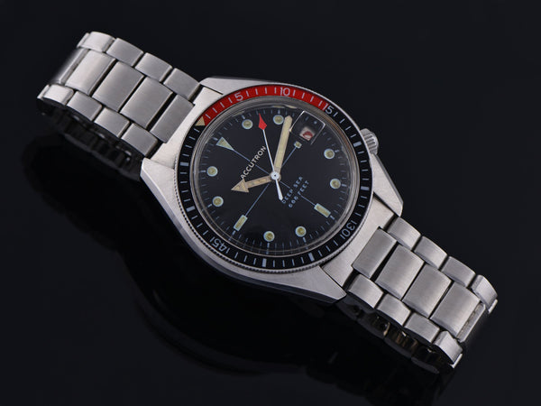 Bulova Accutron Deep Sea 666 Feet Watch Red/Black Bezel & Original Bracelet