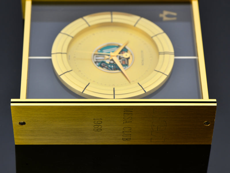 Bulova Accutron Large Desk Clock RCA Mesa Club Award 1969 Engraving