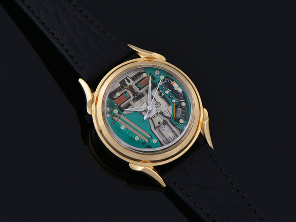 Bulova Accutron Spaceview 14K Gold Watch