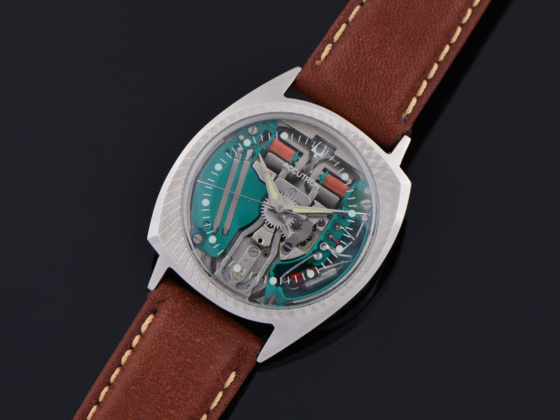 Bulova Accutron Spaceview Asymmetric Florentine Bezel Stainless Steel Watch