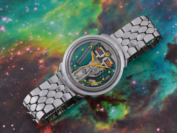 "Bulova Accutron Spaceview ""B"" Stainless Steel Watch"