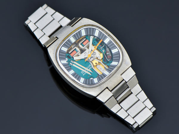 "Bulova Accutron Spaceview Double Cushion ""T"" Steel Watch With Original Bracelet"