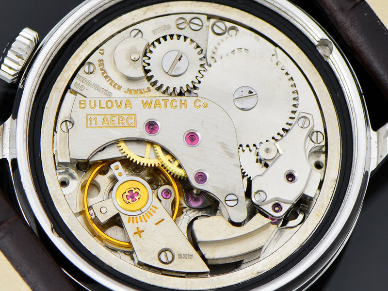 Bulova Stainless Steel Wrist Alarm Watch Movement