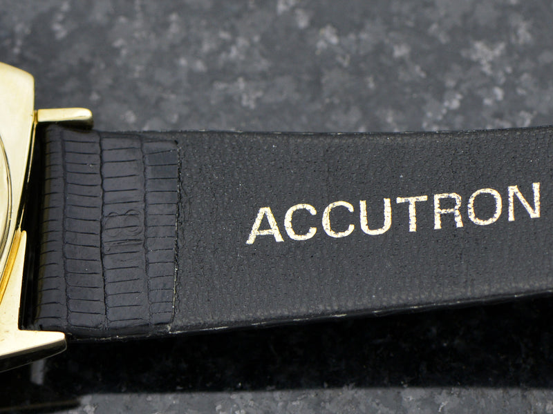 "Bulova Accutron 14K Asymmetric ""TV"" Case"