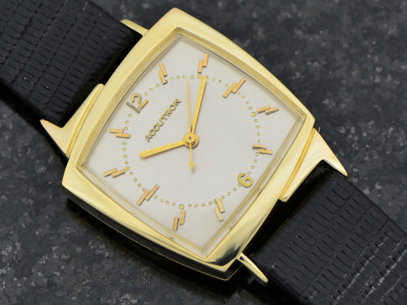 "Bulova Accutron 14K Asymmetric ""TV"" Case from Unwind In Time"
