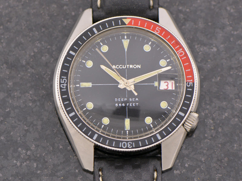 Bulova Accutron Deep Sea 666 Feet Vintage Watch