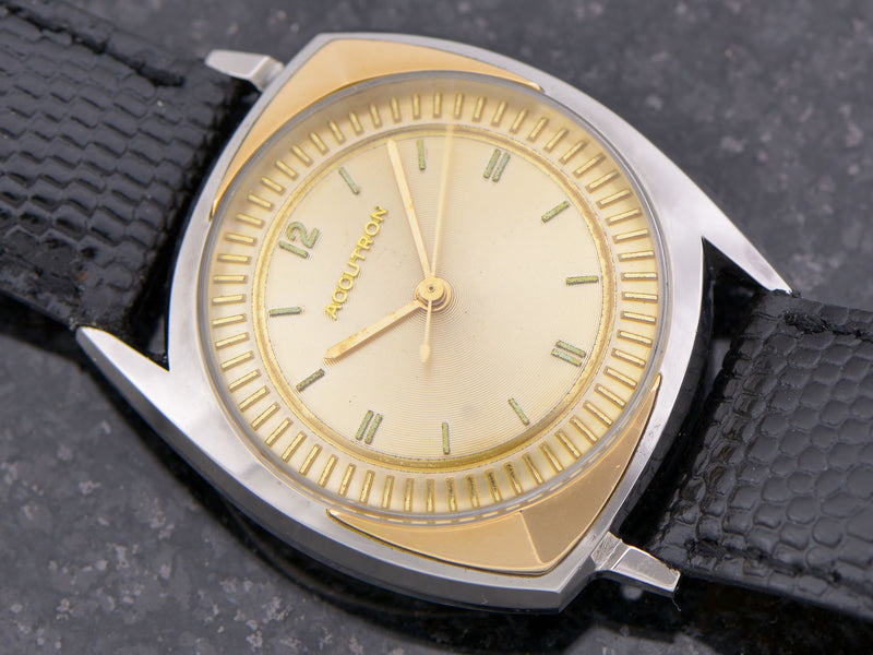 "Accutron ""Floppy Football"" With 14K Inserts from Unwind In Time"