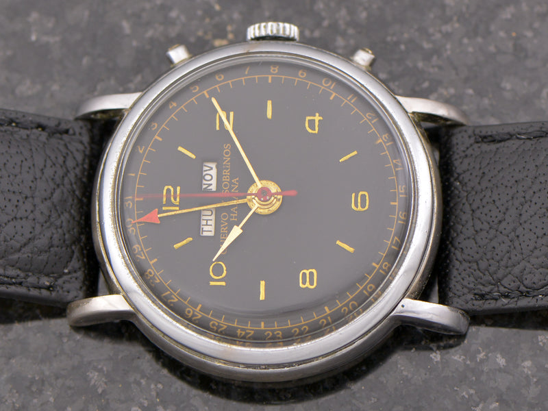 Cuervo Y Sobrinos Triple Date Pointer Vintage Watch