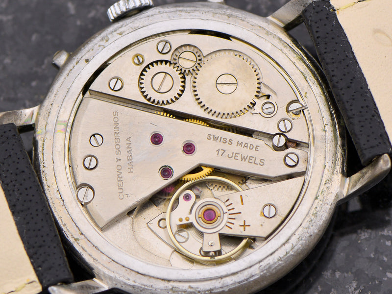 Cuervo Y Sobrinos Triple Date Pointer Vintage Watch Movement