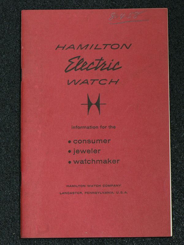 Hamilton Electric Booklet For Consumer Jeweler & Watchmaker