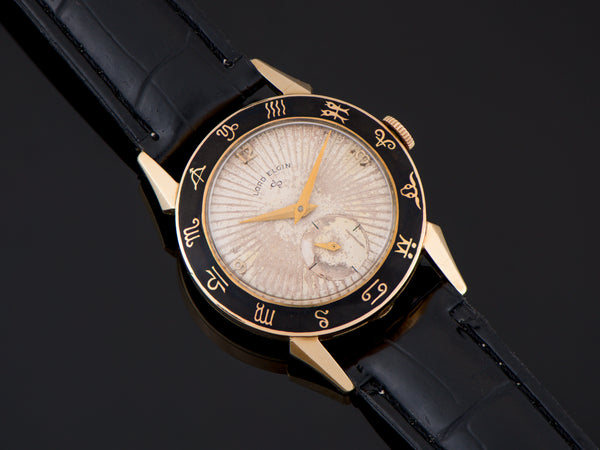Elgin Zodiac Enamel Bezel Watch