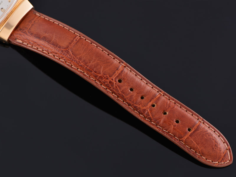 Gently Used Genuine Alligator Brown Watch Band