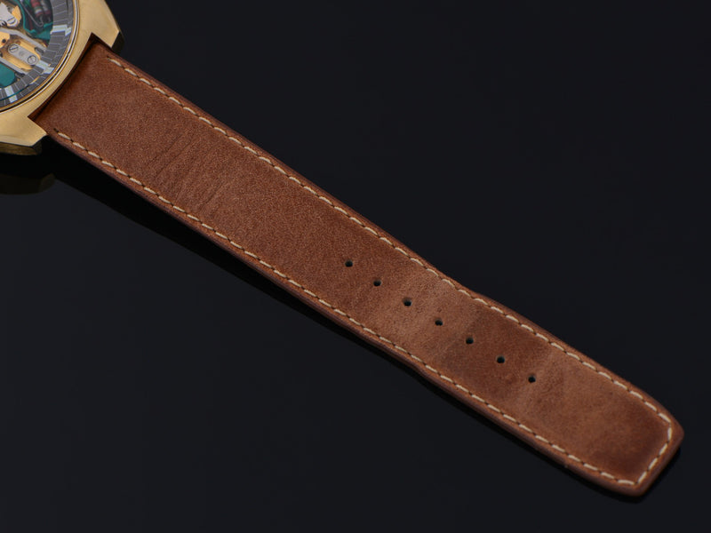 Genuine Leather Brown Watch Band