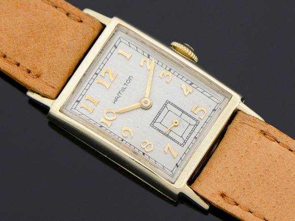 Hamilton 10K Solid Gold Brockton Vintage Watch