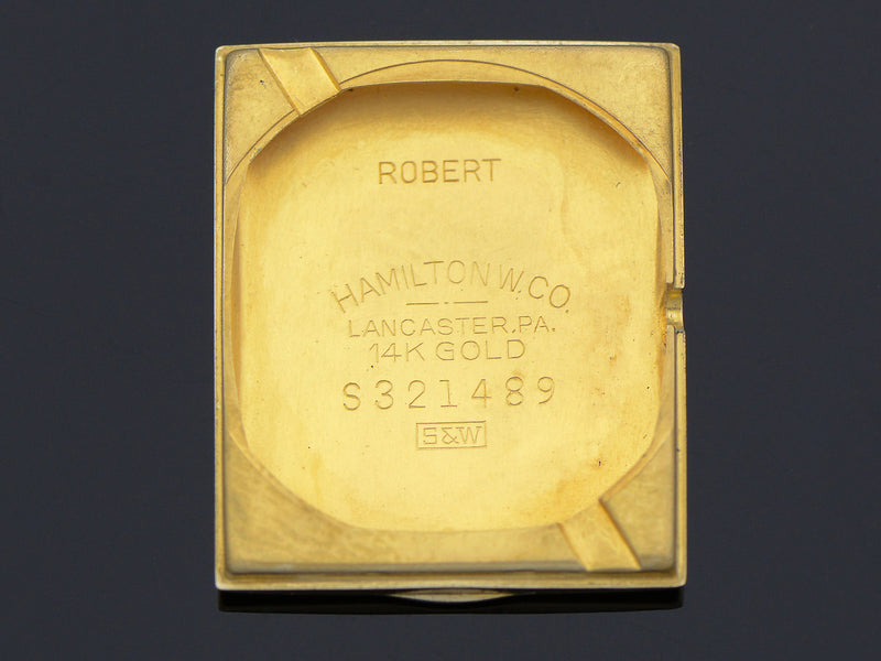 Hamilton 14K Gold Robert Watch Caseback