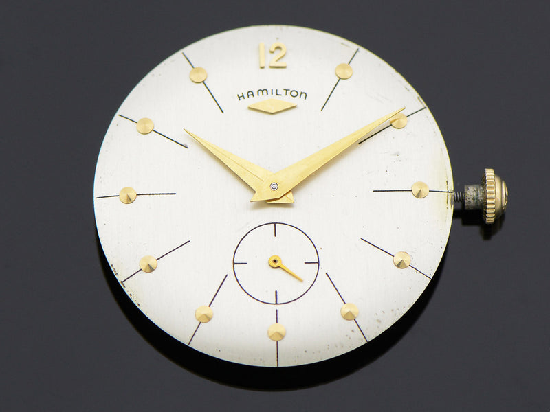 "Hamilton 14K Yellow Gold Bradford ""B"" Watch Dial"