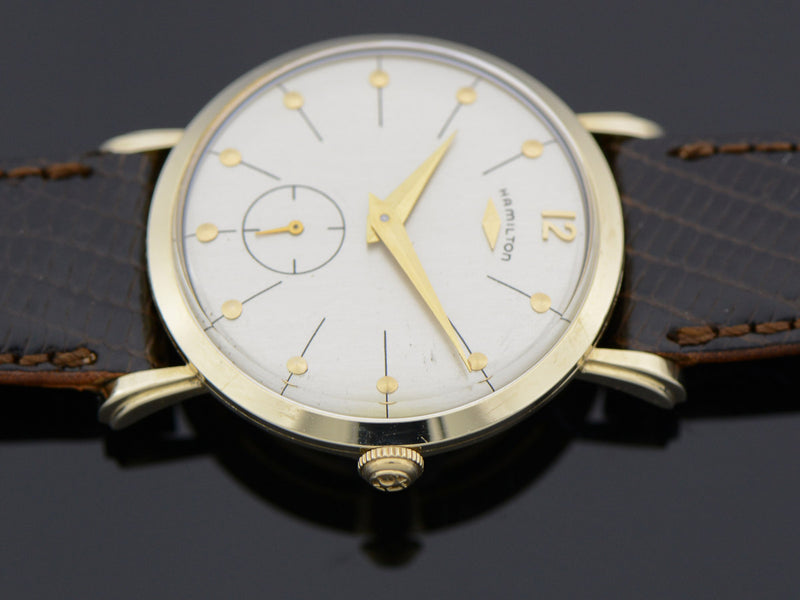 "Hamilton 14K Yellow Gold Bradford ""B"" Watch"