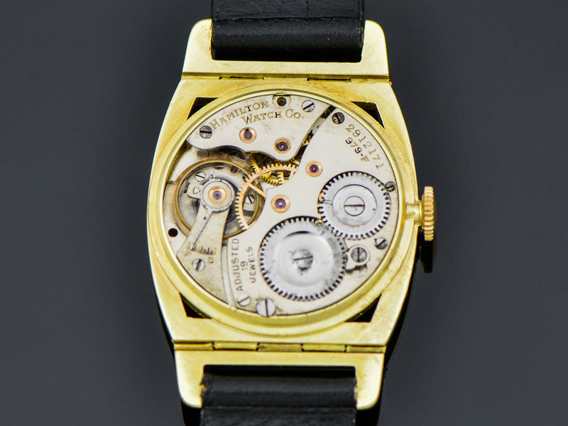 Hamilton 14K Yellow Gold Piping Rock Watch 979-F Movement | Vintage