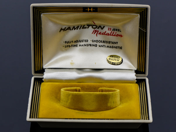Hamilton 22 Jewel Medallion Clamshell Watch Box