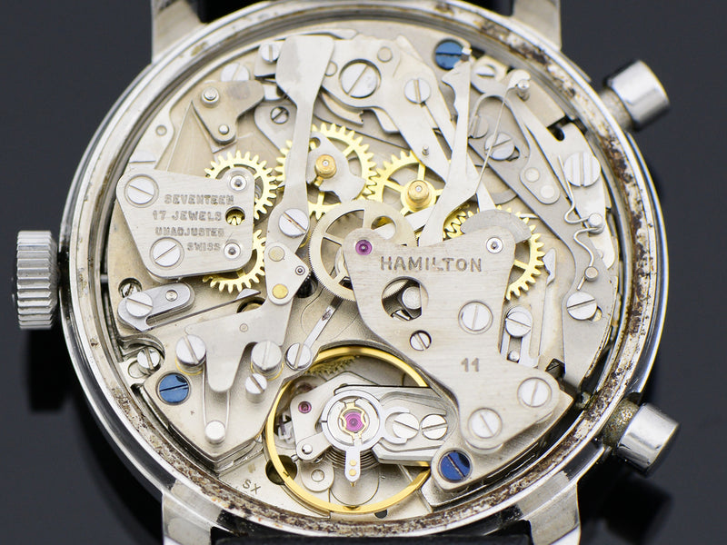 "Hamilton Chrono-Matic ""A"" Caliber 11 Automatic Panda Vintage Watch Movement"