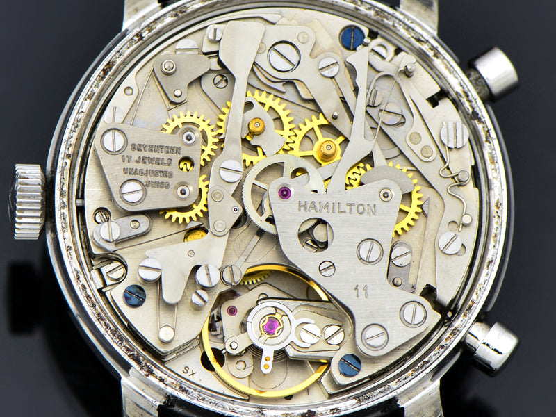 "Hamilton Chrono-Matic ""A"" Caliber 11 Automatic Panda Watch Movement"