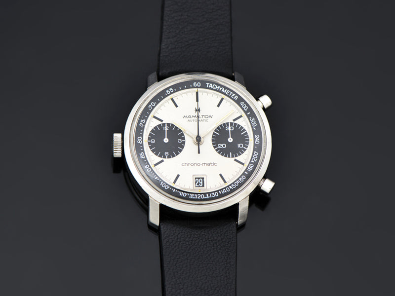 "Hamilton Chrono-Matic ""A"" Caliber 11 Automatic Panda Watch"