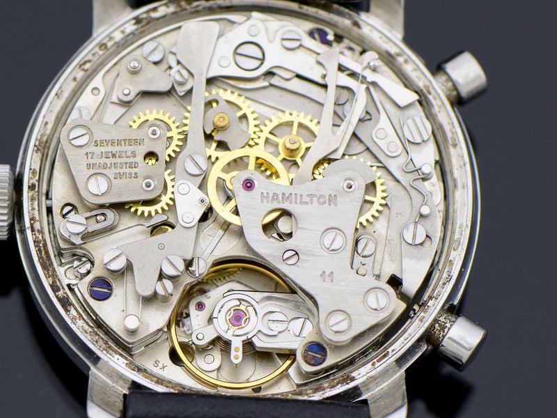 "Hamilton Chrono-Matic ""A"" Caliber 11 Automatic Panda Movement 