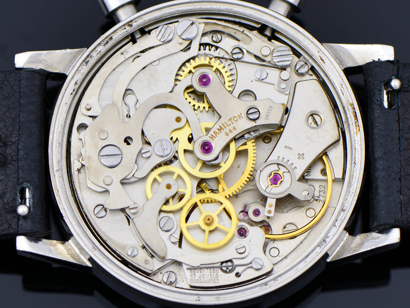Hamilton Chronograph Reverse Panda Valjoux 7732 Watch Movement