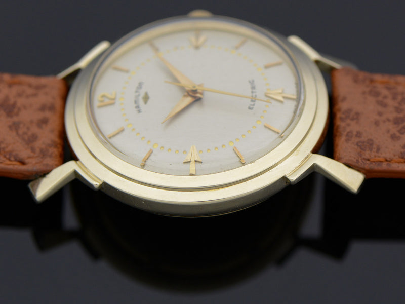 Hamilton Electric 14K Van Horn Silver Dial Watch