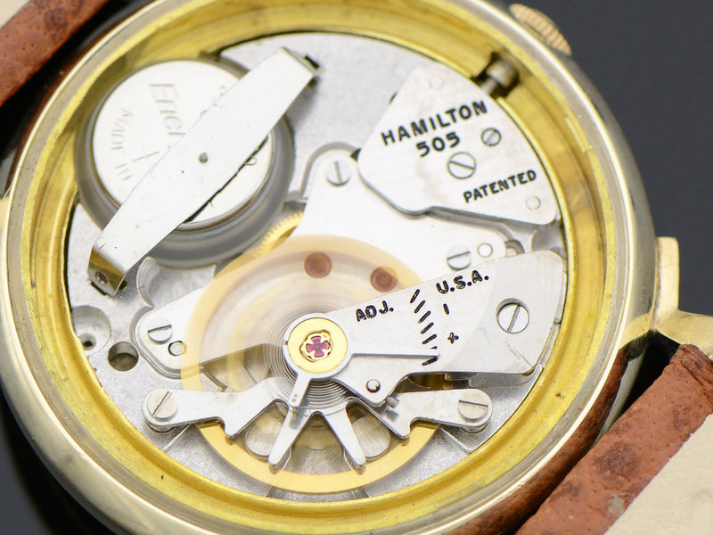 Hamilton Electric 14K Van Horn Silver Dial Watch 505 Electric Movement