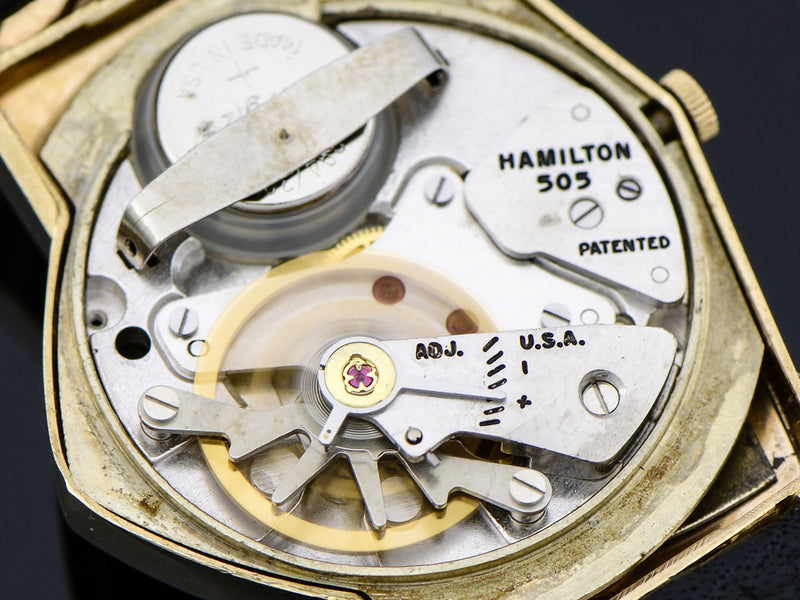 Hamilton Electric 14K Ventura Black Dial Vintage Watch 505 Electric Movement