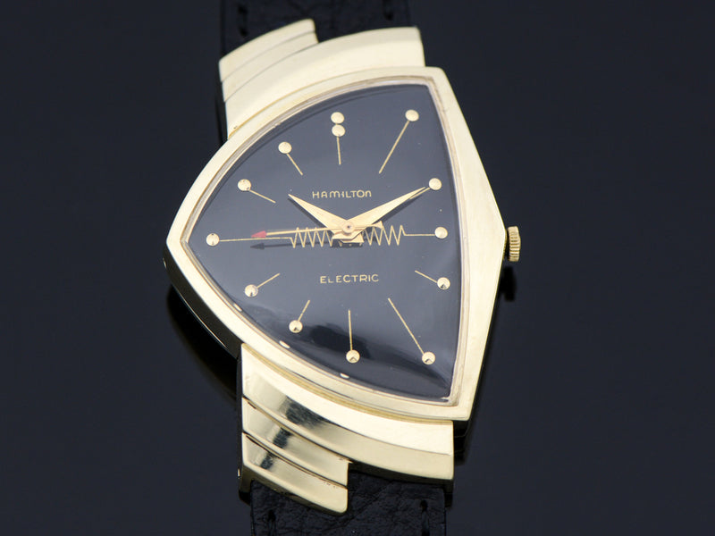 Hamilton Electric 14K Ventura Black Dial Vintage Watch