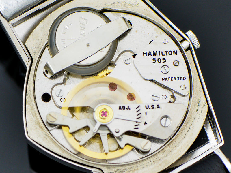 Hamilton Electric 14K White Gold Ventura Watch 505 Movement | Vintage