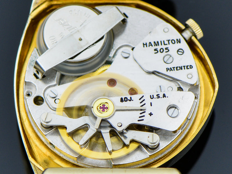 Hamilton Electric 14K Yellow Gold Savitar Watch 505 Electric Movement | Vintage